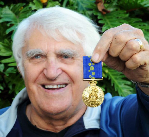 Denis Dack is chuffed with his Order of Australia medal that recognised 50 years of community