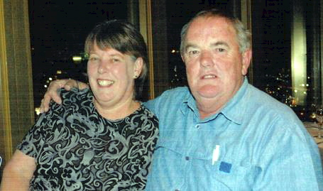 PEAS IN A POD: Cheryl and Bill Hughes pictured at Centrepoint Tower in 2007.