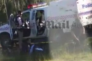 Officers try to revive Brett Forte.Source:Supplied