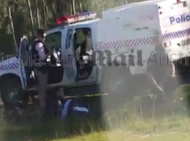 Officers try to revive Brett Forte. Source: Supplied