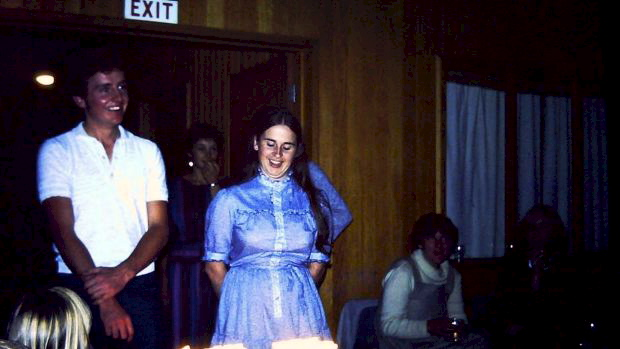 Sergeant Ken Rich pictured celebrating his birthday with his cousin and close friend Sue Dickson. Photo: Supplied