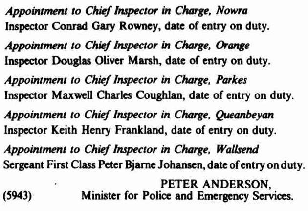 NSW Government Gazette No. 130 20 September 1985