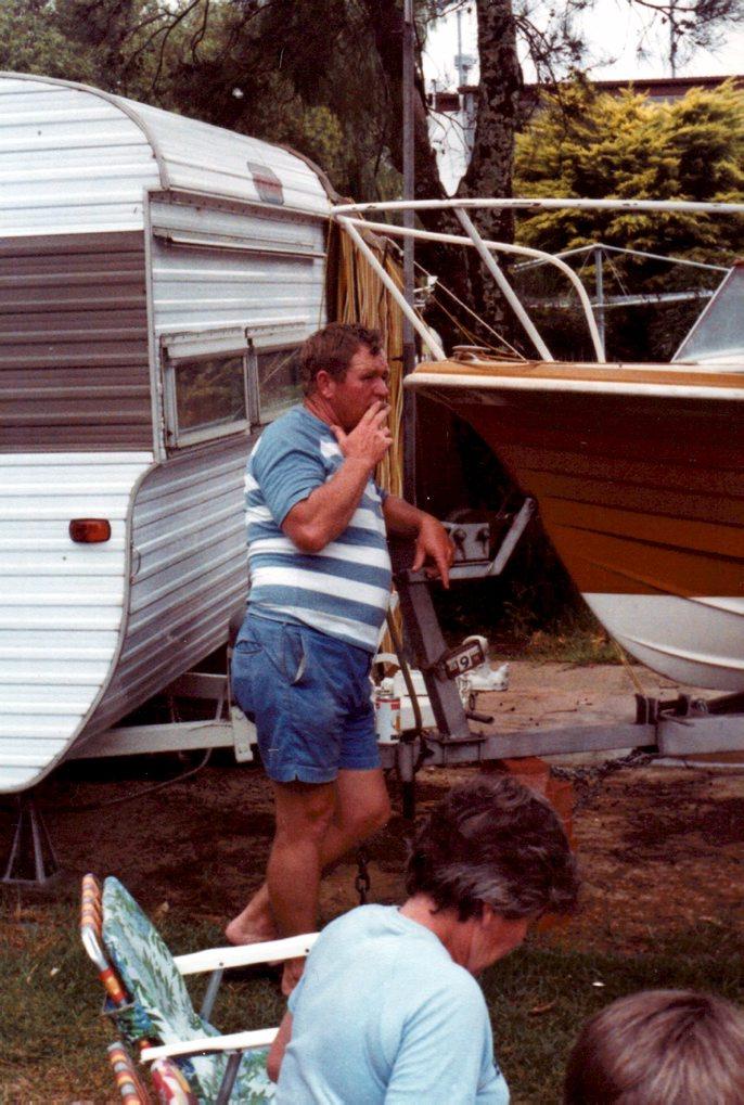 DOUG ROBERTSON AT BADGEE PARK CARAVAN PARK, SUSSEX INLET - 1980.