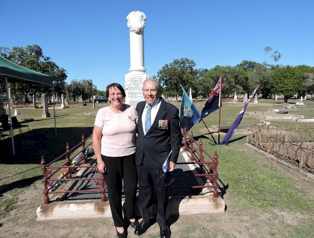 Retired police officer of 41 years Noel Sparks and his wife stumbled across the dilapidated grave of Senior Constable Henry James Fetherston when visiting the Maryborough Cemetery after the 2012 floods to check on Denise's great-grandmother's grave.