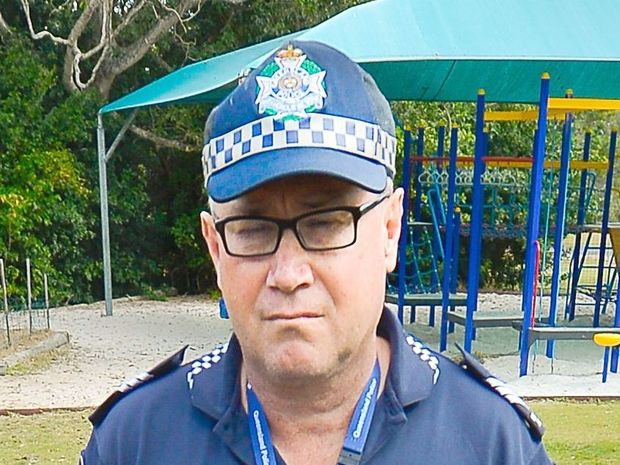 DEVASTATED: Officer in charge Miriam Vale, Owen Harms was distraught in court today as he faced up drink driving charges. Mike Richards GLA040715VALE
