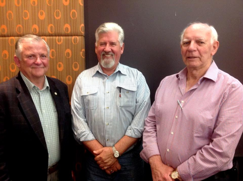 Retired Police Commissioner Ken Moroney with Nick Pavlov & Rex Anderson on 20 October 2015
