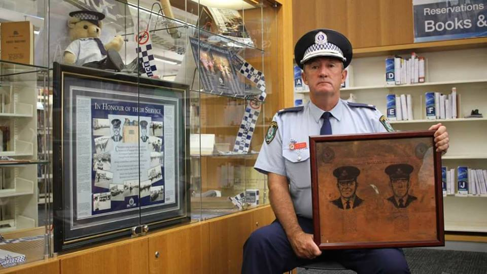 Blacktown Police Stn Memorial dedication on Retired Police Day - 28 September 2017 to RILEY & McDIARMID