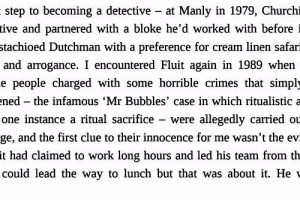 Excert from the book 'Roger Rogerson by Duncan McNab