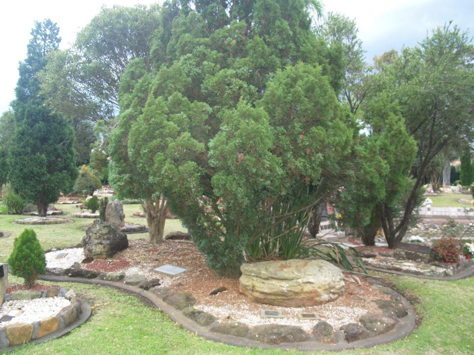 Memorial site at Pinegrove Memorial Gardens, Eastern Creek