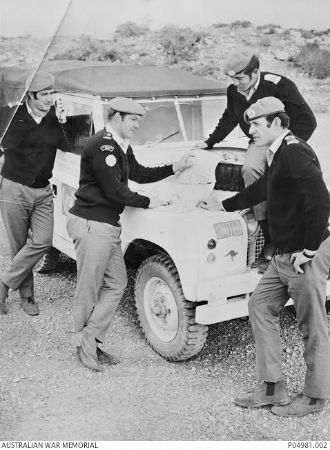 Denis (far left) on Cyprus as a UN Peacekeeper c. 1964