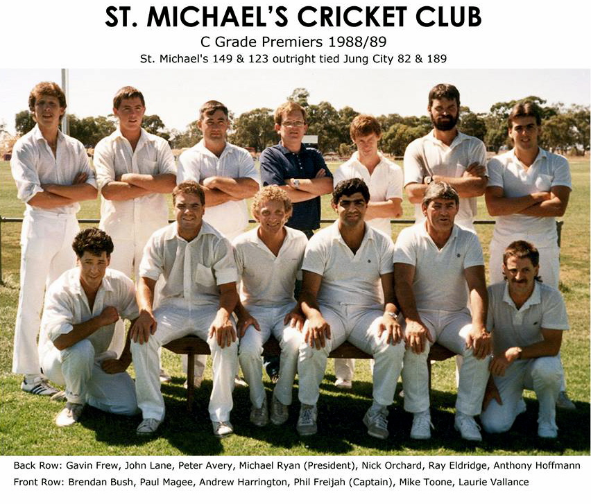 Horsham Saints Cricket Club<br /> Like This Page · September 26, 2017 ·<br /> Vale Gavin Frew.<br /> This morning I learnt of the untimely passing of Gavin Frew who by his own words couldn't bat and couldn't bowl.<br /> Gavin played just the 20 matches for the club for 68 runs (HS 26) but he did return for our premiership reunions earlier this year as a member of the C Grade 1988/89 premiership team. Gavin was a Vicpol member here in Horsham before heading up to Wangaratta.<br /> On behalf of the Horsham Saints (formally St. Michael's) Cricket Club we pass on our condolences to his family. - Trent King, Secretary<br /> Remember is ok to not be ok.<br /> It's always okay to ask for help.<br /> If you notice mates acting strange it doesn't hurt to ask if they are okay.<br /> — with Mike Toone.<br />