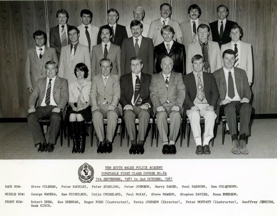 Constable 1st Class course - 1981