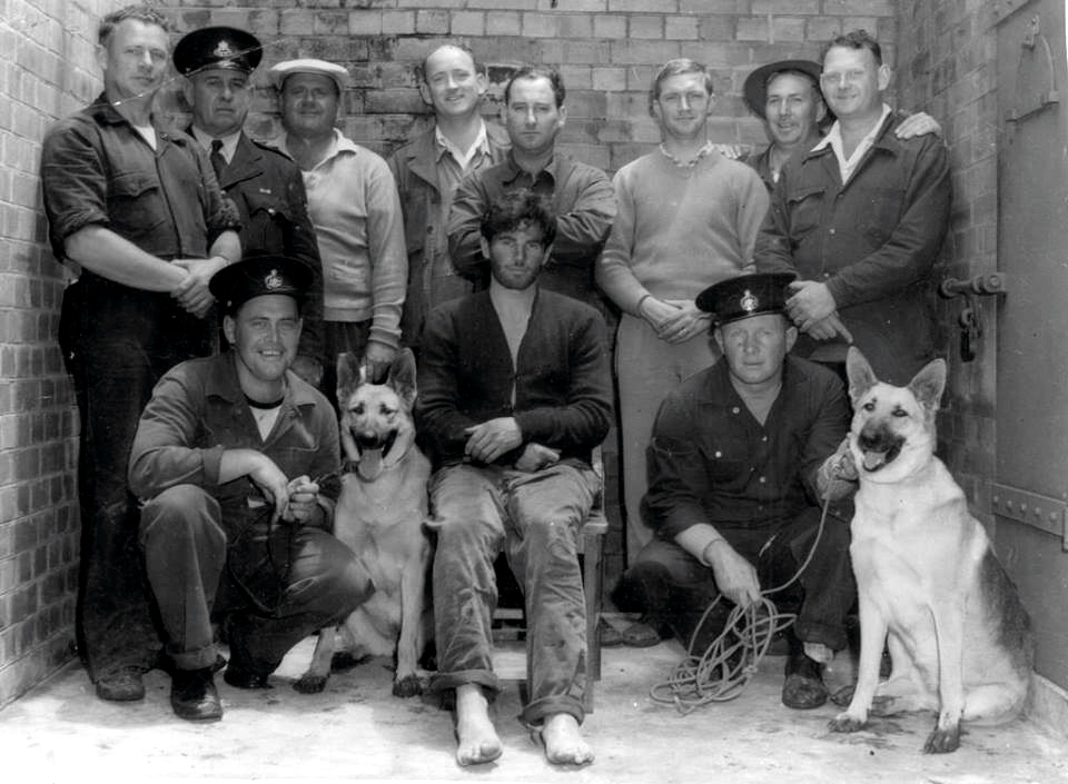 John David JAMES believed to be in this picture after the capture of Keven SIMMONDS at Wyong in November 1959.