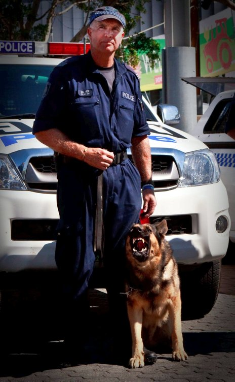 Police Handler - Sgt Roger Mayer & Police Dog - Survivor Jeff<br />