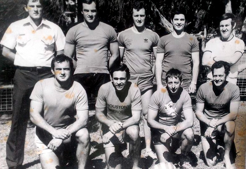 30 Division ( Gosford ) Police Touch Football team ( early 1980's ) L to R<br /> REAR: Gary Jackson, Neil Dell, Gary Lambert ( RIP ), Garry Stillaway, Ray Chambers<br /> FRONT: Peter Flint, Keith 'Tracker' Bradley, Howard 'Howie' Fortis & Ted Albury