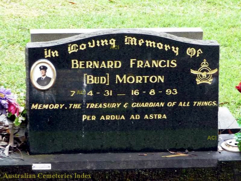 Bernard Francis 'Bud' MORTON grave