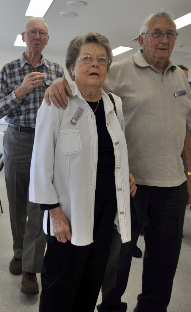 THURSDAY 12 SEPTEMBER 2013<br /> LAKE ILLAWARRA POLICE STATION, OAK FLATS.<br /> RETIRED POLICE DAY ( 2nd YEAR )<br /> John Melville GUDGEON with his wife<br />