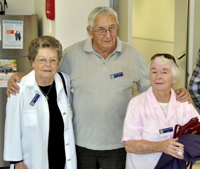 THURSDAY 12 SEPTEMBER 2013<br /> LAKE ILLAWARRA POLICE STATION, OAK FLATS.<br /> RETIRED POLICE DAY ( 2nd YEAR )<br /> John Melville GUDGEON with his wife and Pat CONDON - wife of Gab ( R.I.P. )<br />