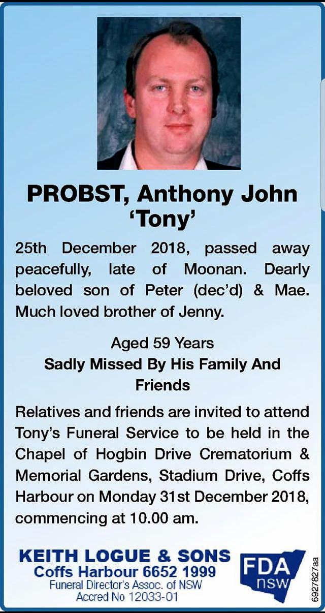 Anthony John PROBST