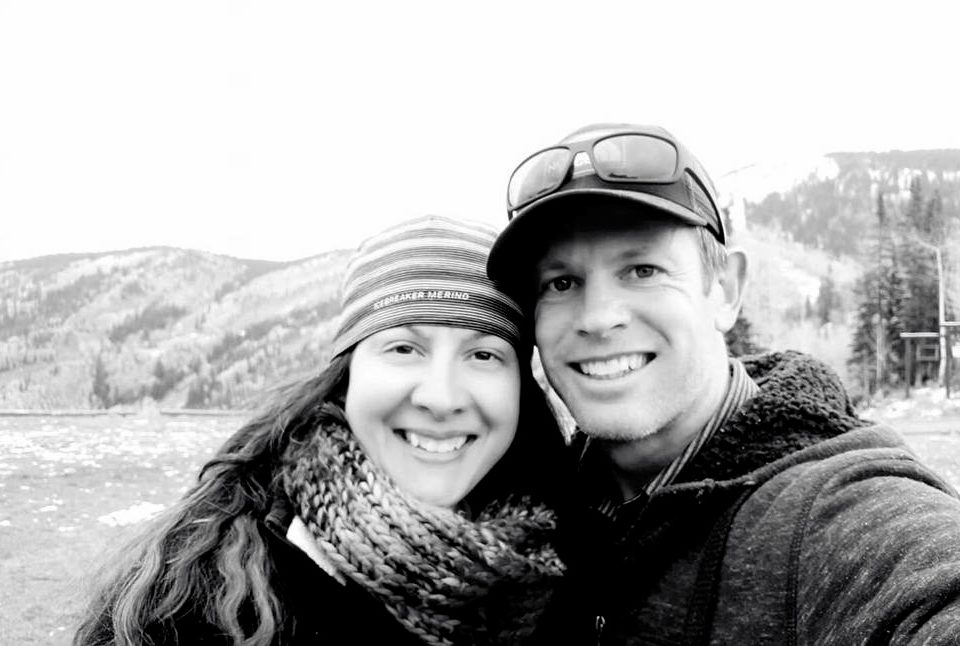Skye Deutschbein and her husband Nathan, who was killed by an avalanche near Mt Cook on Thursday. Photo / Supplied