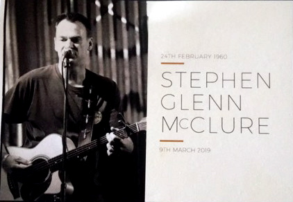 24 February 1960 - 9 March 2019  Stephen Glenn McCLURE - Funeral pamphlet