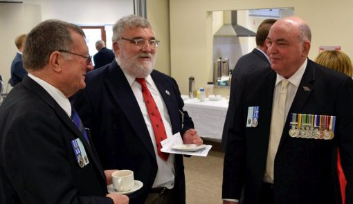 David Aspland New South Wales Policing History ForumSeptember 7, 2017 · I trotted along to Retired Police Day 2017 in Queanbeyan today and had a great time catching up with a few old reprobates and listening to some very interesting presentations by current police of the issues of today. Here is me catching up with Retired Superintendent Charlie Sanderson (LEFT) and Retired Sergeant Scott Ide (RIGHT).