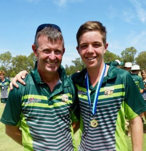 Peter Ensor and his son Luke, a cycling star in the western region.