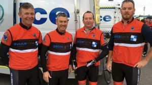 Peter Ensor, Mark Meredith, Warwick Campbell and Tom Magann were four of the Dubbo riders involved in the Remembrance Ride.