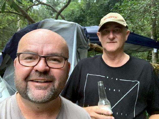 Adam James HAHN with friend John Marlow