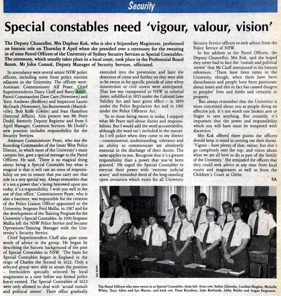The University of Sydney News 20 April 1993 page 61