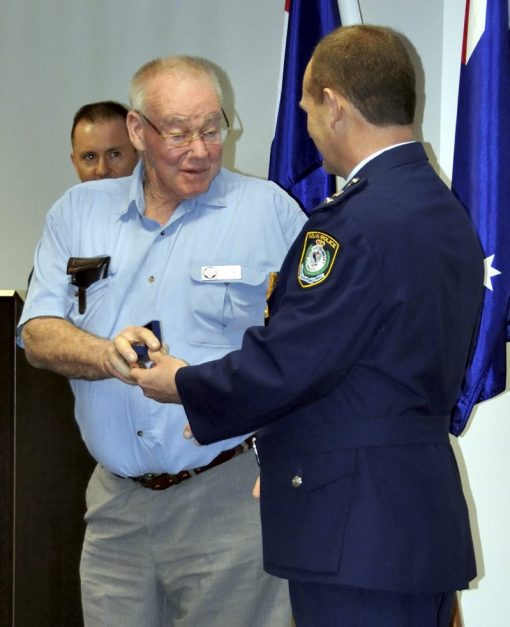 Retired Sgt Robert Edgar LAYTON ( Bob LAYTON ) # 10692 & Supt. Wayne Starling. Thursday 6 September 2012