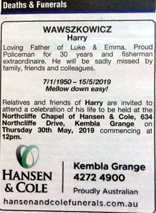 Harry Ted WAWSZKOWICZ - OBITUARY