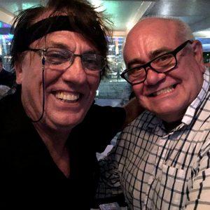 Entertainer John ENGLISH with Alan WHITE.