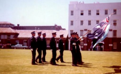 Robert John FLAVEL<br /> March Past - Redfern Police Academy - Roberts Cadet Class.<br />