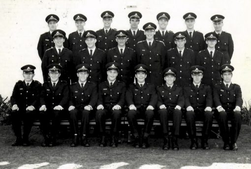 Robert John FLAVEL<br /> Roberts Cadet Class photo - Redfern Police Academy - two weeks before his death.