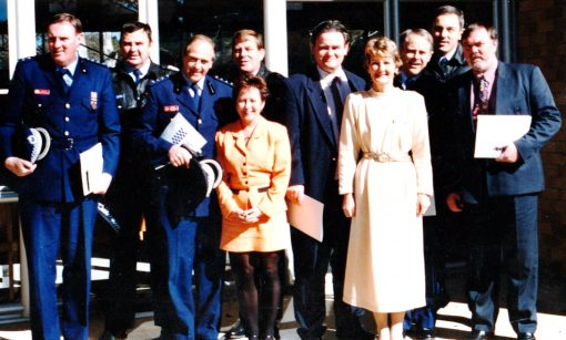 Official opening of Eagle Vale station 22 11 1996