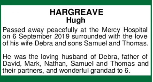 Hugh Gunn HARGREAVE