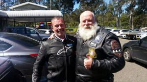 Peter MATHEWS with Scott STEVENSON at the 2016 Wall to Wall Police Ride of Remembrance.