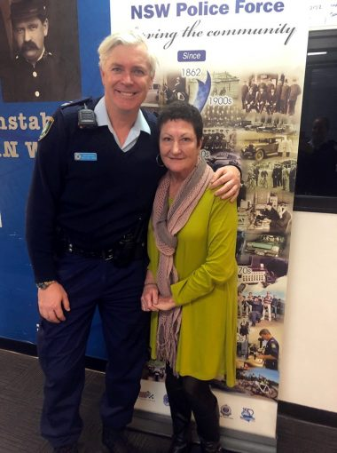 Senior Constable Anthony NEW & Pam SUTTON.