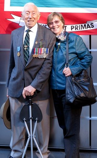 Doug CARTAN with his Daughter on ANZAC Day in Sydney 2017