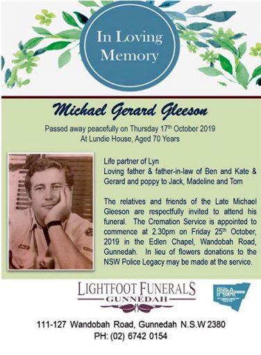 Michael Gerard GLEESON