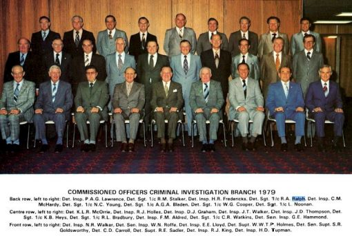 Commissioned Officers of Criminal Investigation Branch - 1979