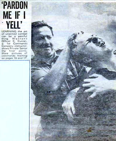 Blue Curran on an unarmed combat course in the early 1960's