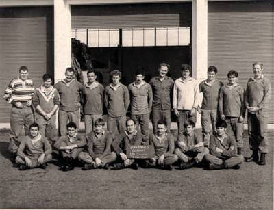 Standing Blue last right with John Whipp second from left 1970's