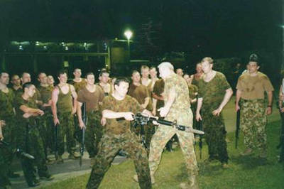 Blue teaching counters to Bayonet attacks at 1 Cmdo in 2007