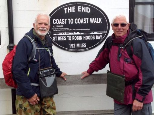 Just completed the Coast to Coast walk - 2 June 2014<br /> Terry on the left.