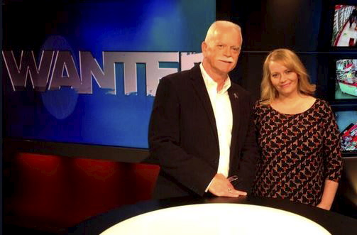 With special guest daughter, Katie, on set of WantedTV<br /> 23 Sept 2013