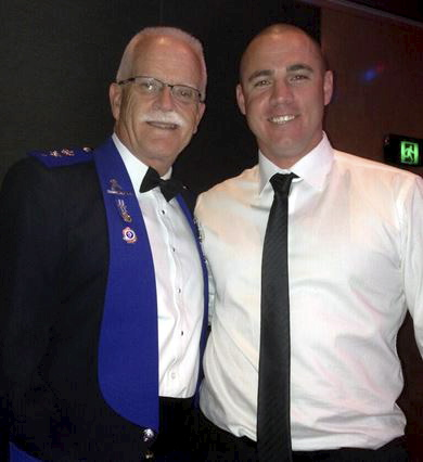 Terry Dalton with Rob Roden ( Blacktown Dets ) at Police Legacy Ball.