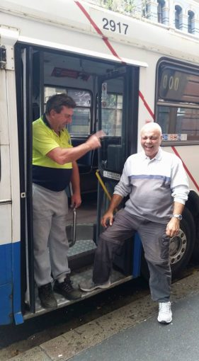 They gave Bill the keys to a City Bus, Sydney CBD.