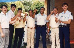 Nail Elias ( centre in uniform )
